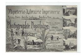 CPA DPT 43 - PUBLICITES - PAPETERIE LIBRAIRIE IMPRIMERIE PHOTOGRAPHIE POPULAIRE CLEMENT PASCON ETC - Langeac
