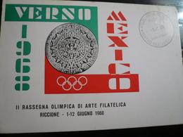Riccione 1968 Rassegna Filatelia Olimpica - Francobolli