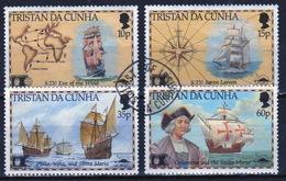 Tristan Da Cunha 1992 Complete Set Of Stamps Commemorating Discovery Of America By Collumbus. - Tristan Da Cunha