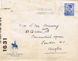31375. Carta BELGRADO (Yogoslavia) 1940. Faja CENSURA, British Censor 1631 - 1931-1941 Königreich Jugoslawien