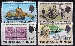 Tristan Da Cunha 1971 Complete Set Of Stamps Commemorating Shackleton - Rowett Expedition. - Tristan Da Cunha