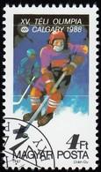 HUNGARY - Scott #3097 Calgary '88 Olympic Games, Ice Hockey / Used Stamp - Winter 1988: Calgary