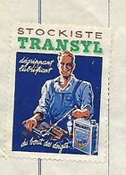 Facture Avec Vignette TRANSYL 1953 / 25 MONTBELIARD / Fournitures Industrielles - Vignetten (Erinnophilie)