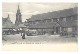 Cpa Honfleur - Eglise Ste Catherine Et Le Marché - Honfleur