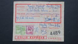 Colis Postaux 460 Francs 1955 Sur Bulletin Colis Express 4,400 Kg Pour Neuilly Sur Seine - Colis Postaux