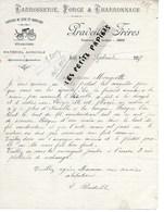 Algérie - SETIF- Facture PRADEILLE - Carrosserie, Forge Et Charronnage - 1917 - REF 275 - Factures & Documents Commerciaux