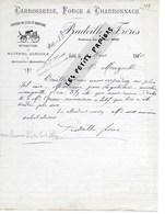 Algérie - SETIF- Facture PRADEILLE - Carrosserie, Forge Et Charronnage - 1910 - REF 275 - Factures & Documents Commerciaux
