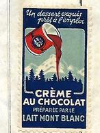 Facture Avec Vignette Lait MONT BLANC 1953 /  PARIS / G. MOITRIER / Conserves Salaisons - Vignetten (Erinnophilie)