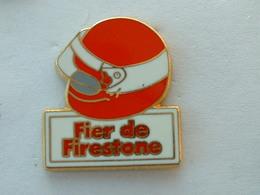 PIN'S FIER DE FIRESTONE - CASQUE ROUGE - ZAMAC - Pins