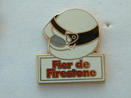 PIN'S FIER DE FIRESTONE - CASQUE BLANC - ZAMAC - Pins