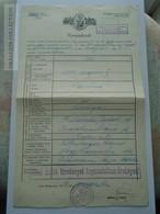 ZA179.11  Old Document-  Judaica - WWII - Jewish Law - 1940 Budapest- Csak Zsidó Törvénnyel Kapcsolatban érvényes - Birth & Baptism