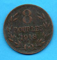 GUERNESEY - GUERNSEY - Pièce 8 Doubles 1918 - Guernesey