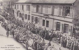 BELFORT  Les Funerailles De L Aviateur Pegoud  3septembre 1915 Les Couronnes - Belfort - Ville