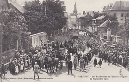 BELFORT  Les Funerailles De L Aviateur Pegoud  3septembre 1915 - Belfort - Ville