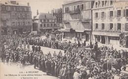 BELFORT  Les Funerailles De L Aviateur Pegoud  3septembre 1915 Le Convoi - Belfort - Ville