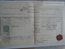 ZA179.13 Old Document- Hungary  -PÁKOZD - (Fejér Vm.)  Julianna (1840)  KINCSES- SELYEM 1870 - Hollner József P. - Naissance & Baptême