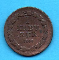 ALLEMAGNE - DEUTSCHLAND - 1 KREUSER 1808 - Monedas Pequeñas & Otras Subdivisiones