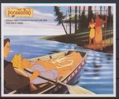 2475  - GUYANA   Pocahontas  Powhatan Comforts Pocahontas As They Watch John Smith Rowed Away In Av Dinghy . - Disney
