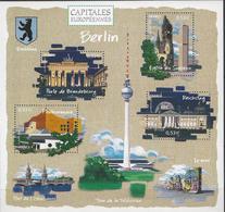 BF 88 FRANCE 2005 BLOC 88 CAPITALES EUROPEENNES BERLIN PORTE DE BRANDEBOURG EGLISE DU SOUVENIR PHILARMONIS REICHSTAG - Blocs & Feuillets