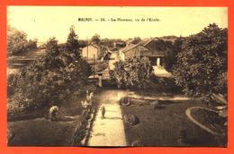 """CPA 52 Malroy """" Le Hameau , Vu De L'école """" - France"""