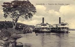 Pays Div -ref P547- Congo Belge - Leopoldville - Vapores Dos Grandes Lagos /tres Legere Tache Au Verso -carte Bon Etat - - Kinshasa - Léopoldville