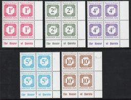 Tristan Da Cunha 1976 Set Of Postage Due Stamps In Corner Blocks Of Four. - Tristan Da Cunha