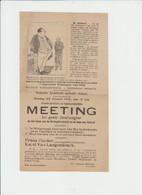ANDERLECHT - GROOTE MEETING DU 23 JANVIER 1910 - FRANS FISCHER - KAREL VAN LANGENDONCK - Programmes