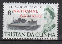 Tristan Da Cunha 1970 Single Stamp From The 65 Ship Series Overprinted With National Savings. - Tristan Da Cunha