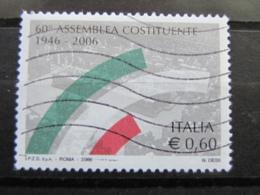 *ITALIA* USATI 2006 - 60° ASSEMBLEA COSTITUENTE - SASSONE 2913 - LUSSO/FIOR DI STAMPA - 6. 1946-.. Repubblica