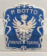 P.BOTTO FIRENZE TORINO   ERINNOFILO CHIUDILETTERA ETICHETTA PUBBLICITARIA D'EPOCA - Francobolli