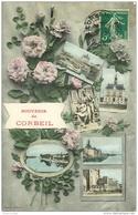 91 CORBEIL ESSONNES. Multivues Fantaisie 1908 - Corbeil Essonnes