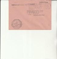 L 3 -  Enveloppe Gendarmerie De St Gilles Les Bains    Poste SAINT DENIS - Réunion - Drogue - Alcool - Cachets Militaires A Partir De 1900 (hors Guerres)