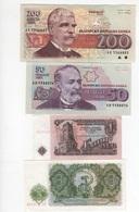 B27 - BULGARIE Lot De 4 Billets - Bulgarie