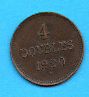 GUERNESEY - GUERNSEY - Pièce 4 Doubles 1920 - Guernesey