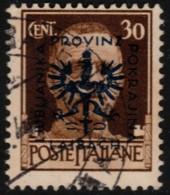 ~~~  Germany Laibach Occupation 1944 - Italy Overprinted - Mi. 6 (o) CV 7.00 Euro ~~~ - Bezetting 1938-45