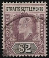 ~~~ Straits Settlements 1902 - Edward VII 2 $ Key Value -  Mi. 89 (o) CV 100.00 Euro ~~~ - Straits Settlements