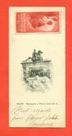 ERINNOFILIA - VIGNETTE ERINNOFILE-MILANO- VIGNETTA SU MINICARTOLINA CM. 13 X 6 - ESPOSIZIONE DI MILANO 1906-RARITA' - Erinnofilia