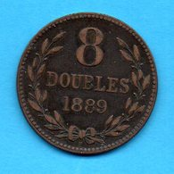 GUERNESEY - GUERNSEY - Pièce 8 Doubles 1889 - Guernsey