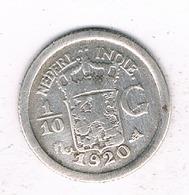 1/10 GULDEN 1920   NEDERLANDS INDIE /0857/ - [ 4] Colonies