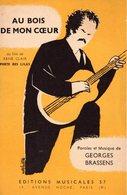 """PARTITION GEORGES BRASSENS  """" AU BOIS DE MON COEUR """" - 1957 - EXCELLENT ETAT.- ILLUSTRATEUR VICTOR LAVILLE. - Other"""