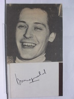 AUTOGRAPHE - DEDICACE - PHOTO DE MAGAZINE SIGNEE - BRUNO PRADAL - ACTEUR - Autografi