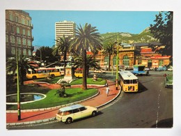 Carte Couleur : 83 TOULON : La Place De La Gare, Le Palais Elisabeth, Voitures Et Bus Des Années 1960 - Toulon
