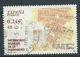 SPANIEN ESPAGNE SPAIN ESPAÑA 2001 FROM HUMAN HERITAGE M/S:SAN CRISTOBAL DE LA LAGUNA ED 3846 YV 3401 MI 3681 SC 3130D - 1931-Heute: 2. Rep. - ... Juan Carlos I
