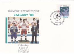 Canada Cover 1988 Calgary Olympic Games - Icehockey (G99-18) - Winter 1988: Calgary