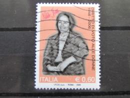*ITALIA* USATI 2006 - 60° VOTO ALLE DONNE IOTTI - SASSONE 2914 - LUSSO/FIOR DI STAMPA - 6. 1946-.. Repubblica