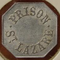 PARIS (75) 50 Centimes  PRISON SAINT-LAZARE Contremarqué - Monetari / Di Necessità