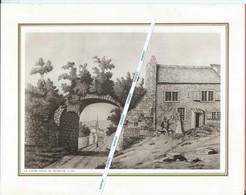 LIEGE  -  La Fausse Porte De Pierreuse - Reproduction D'une Peinture D' Alfred ISTA - Liege