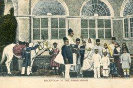 INDIA -  Reception Of The Bridegroom -  VG Ethnic Postcard - Asie