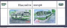 2017. Tajikistan, City Transport, 2v Perforated, Mint/** - Tadschikistan