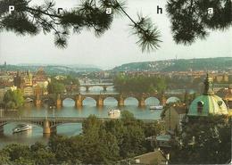 Praha (Rep. Ceca) Prague's Bridges, Les Ponts, Panorama Dei Ponti - Repubblica Ceca